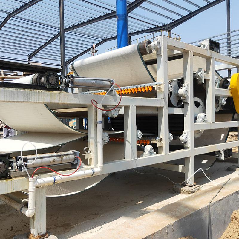 广西壮族自治区河北沧州河卵石制沙污泥脱水带式压滤机生产线