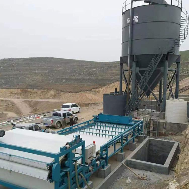 广西壮族自治区广西玉林3000带式压滤机进驻河道清淤项目